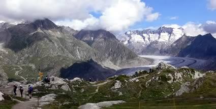 Das Wallis in der Schweiz