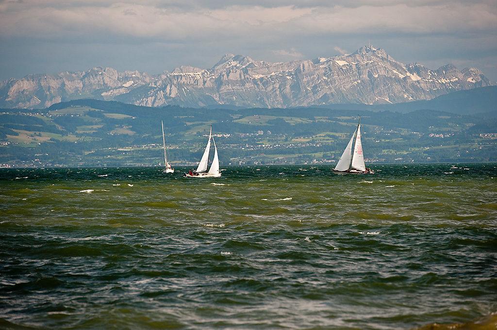 Friedrichshafen Bodensee und Alpen