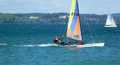 Surfing and Sailing on the Lake of Constance