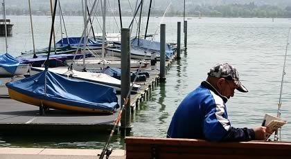 Fishing on the Lake of Constance