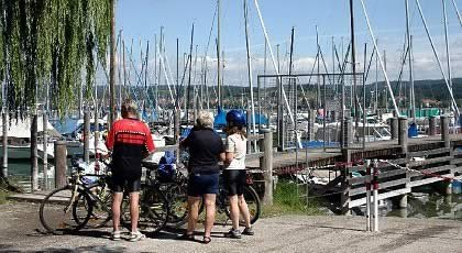 Bicycling on the Lake of Constance