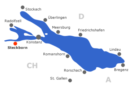 Karte Bodensee Landkarte